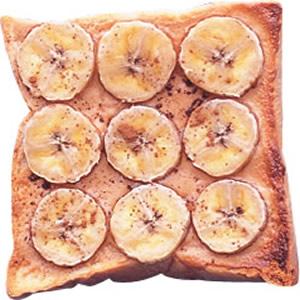 香蕉花生醬土司