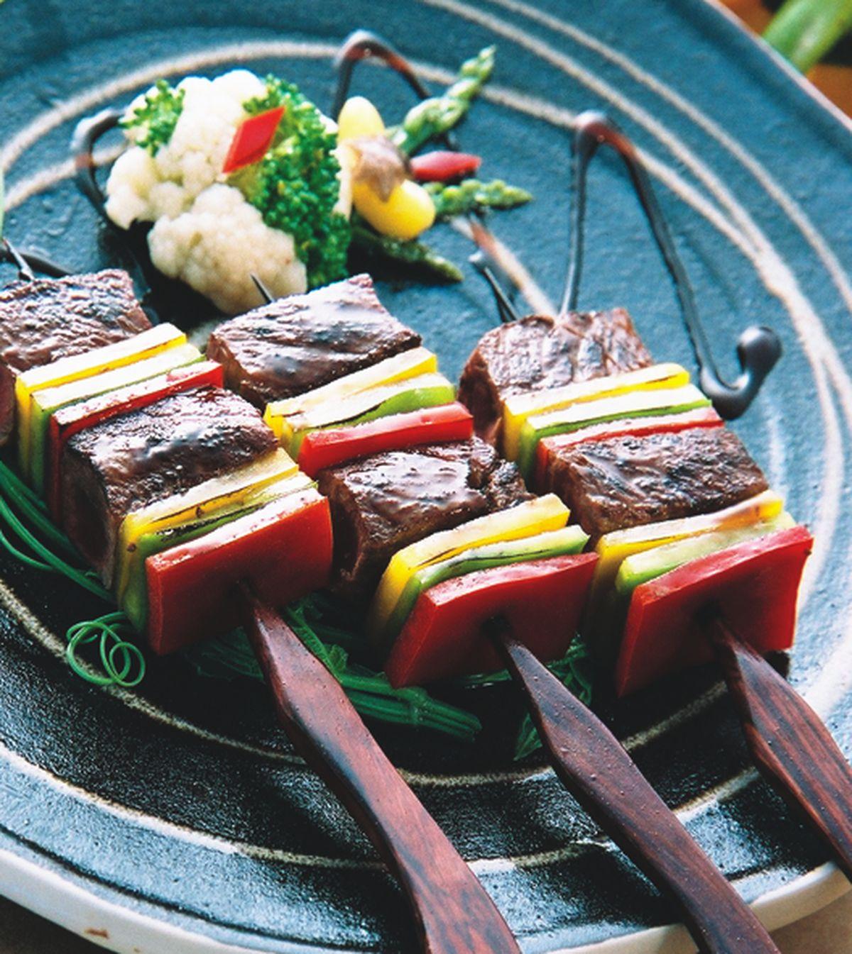 食譜:彩椒牛肉串