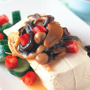 涼拌金針菇豆腐