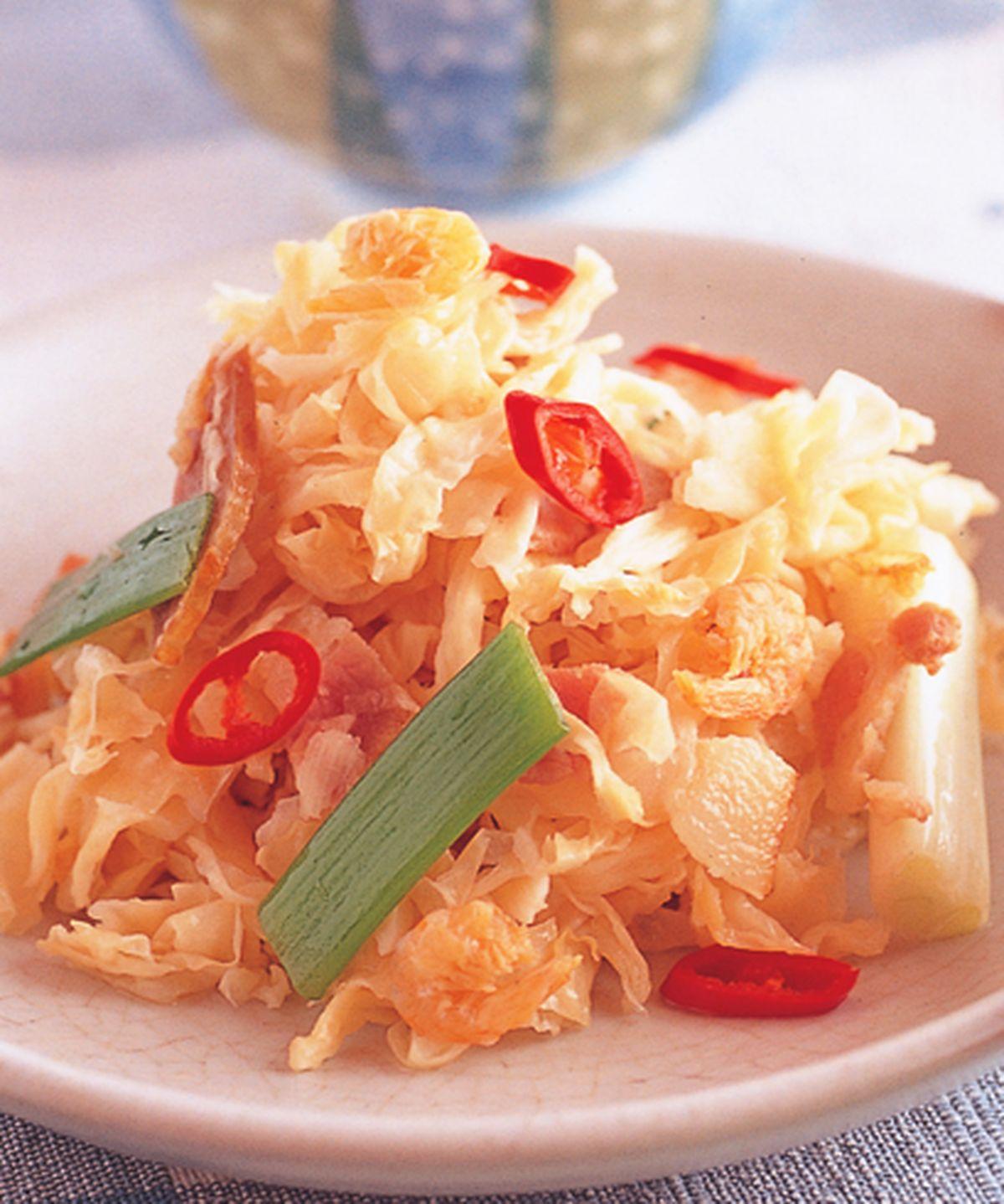食譜:培根辣炒高麗菜乾