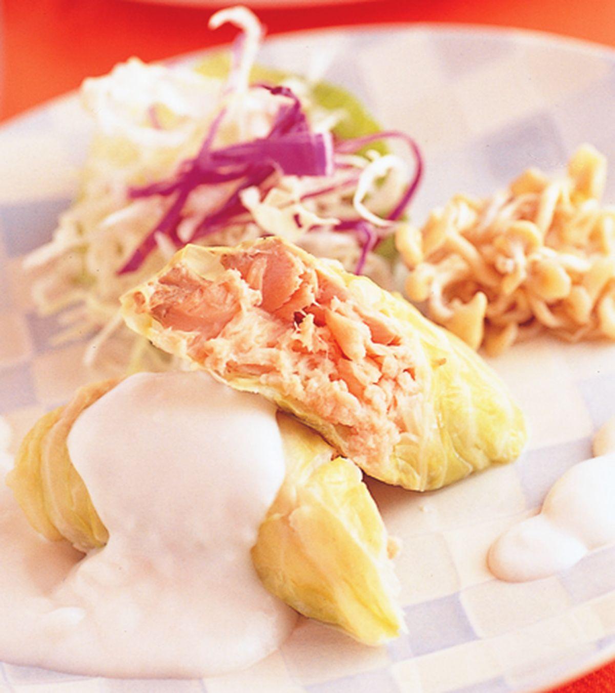 食譜:奶油鮭魚捲