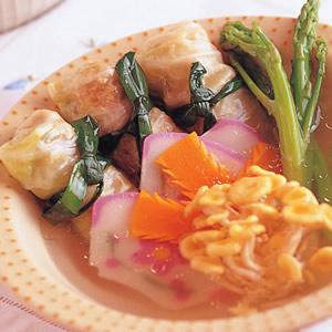 鮮脆捲蔬菜湯