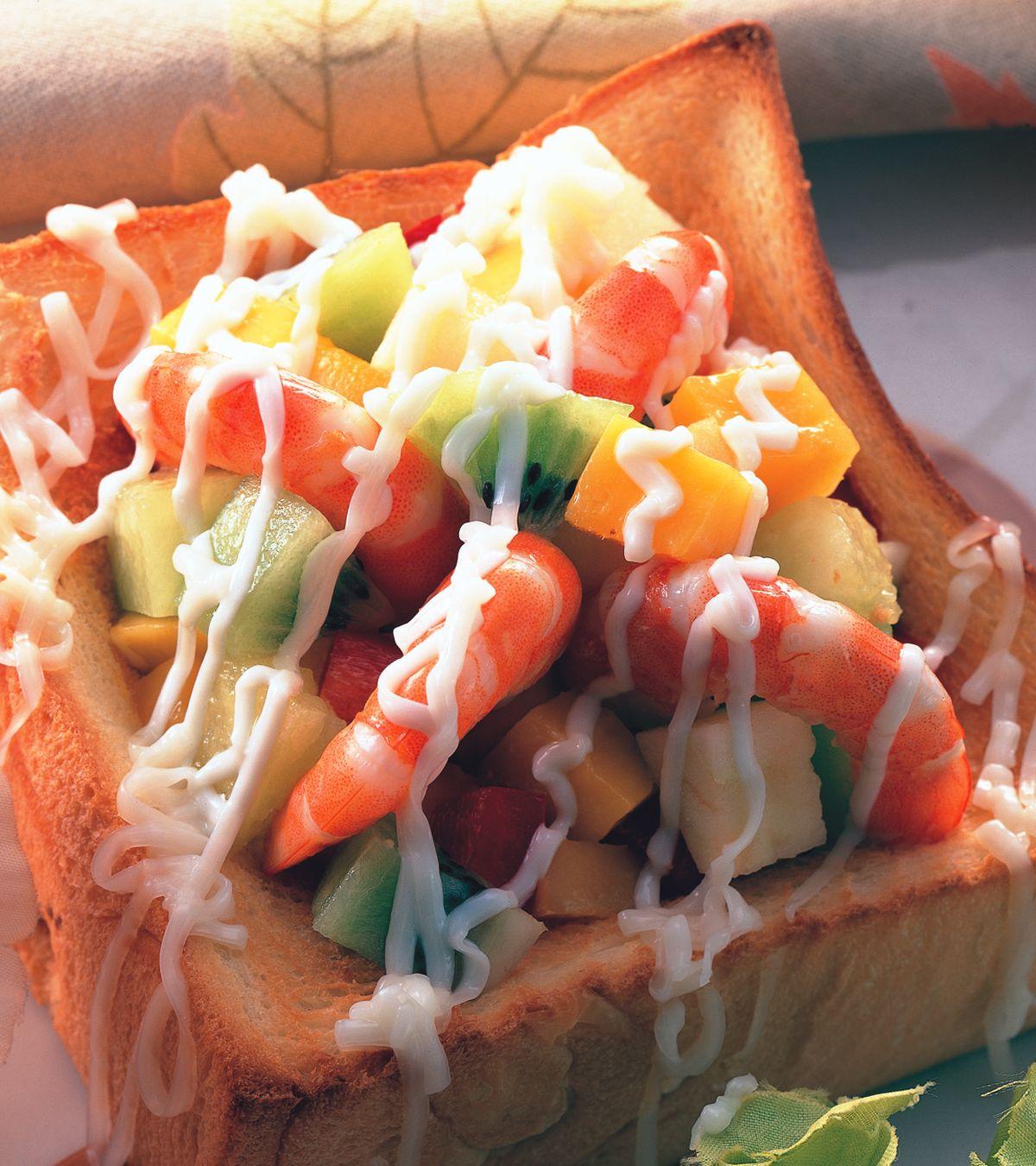 食譜:鮮蝦水果沙拉盒