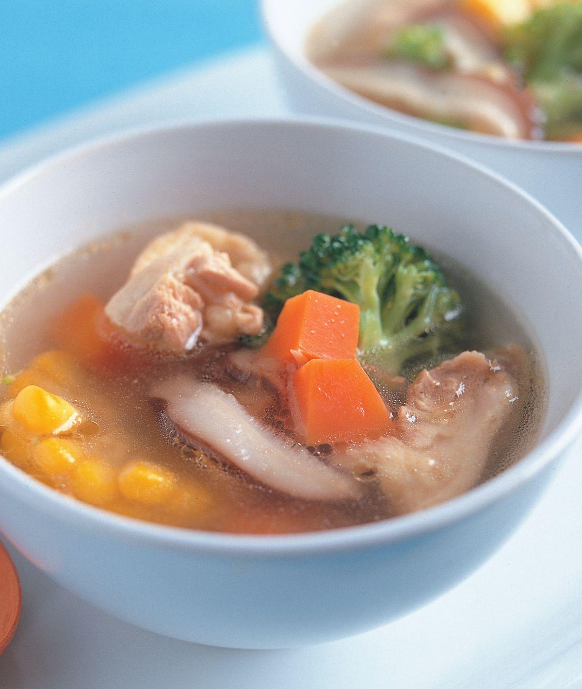 食譜:蔬菜雞腿湯