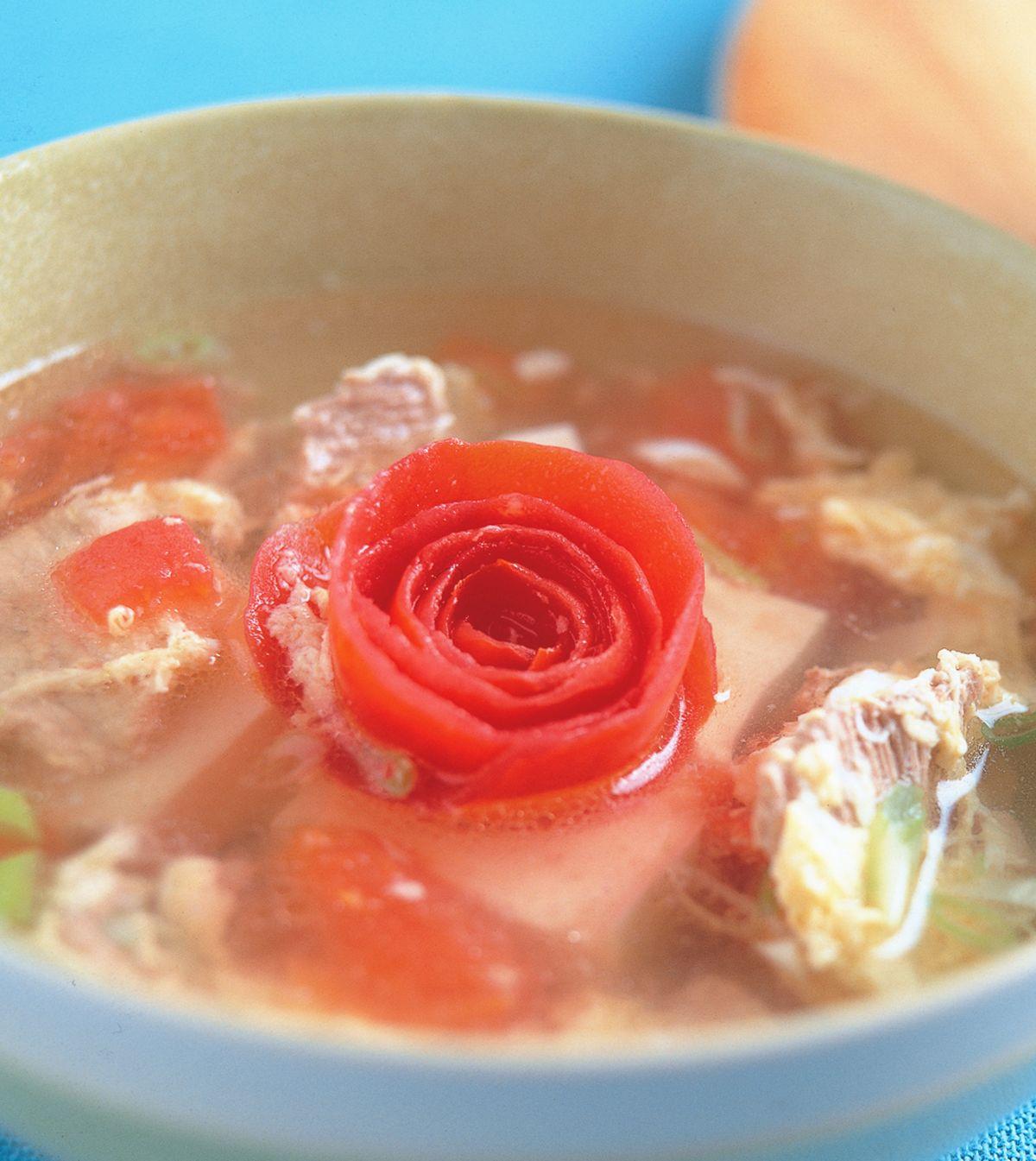食譜:蕃茄肉片湯