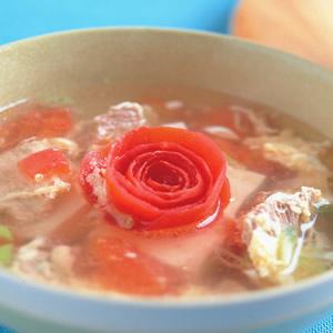 蕃茄肉片湯