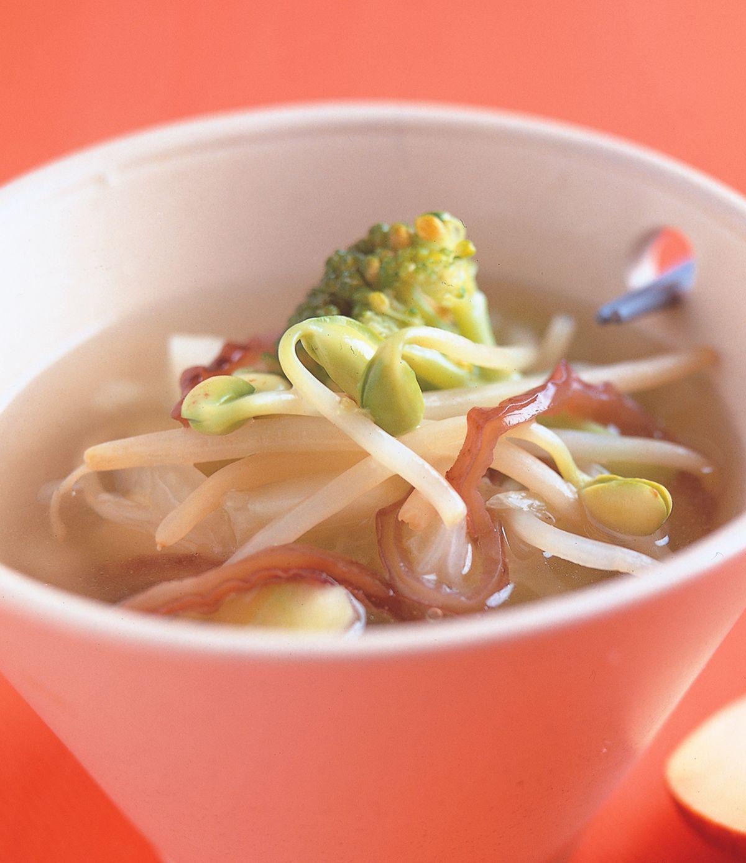 食譜:豆芽木耳湯