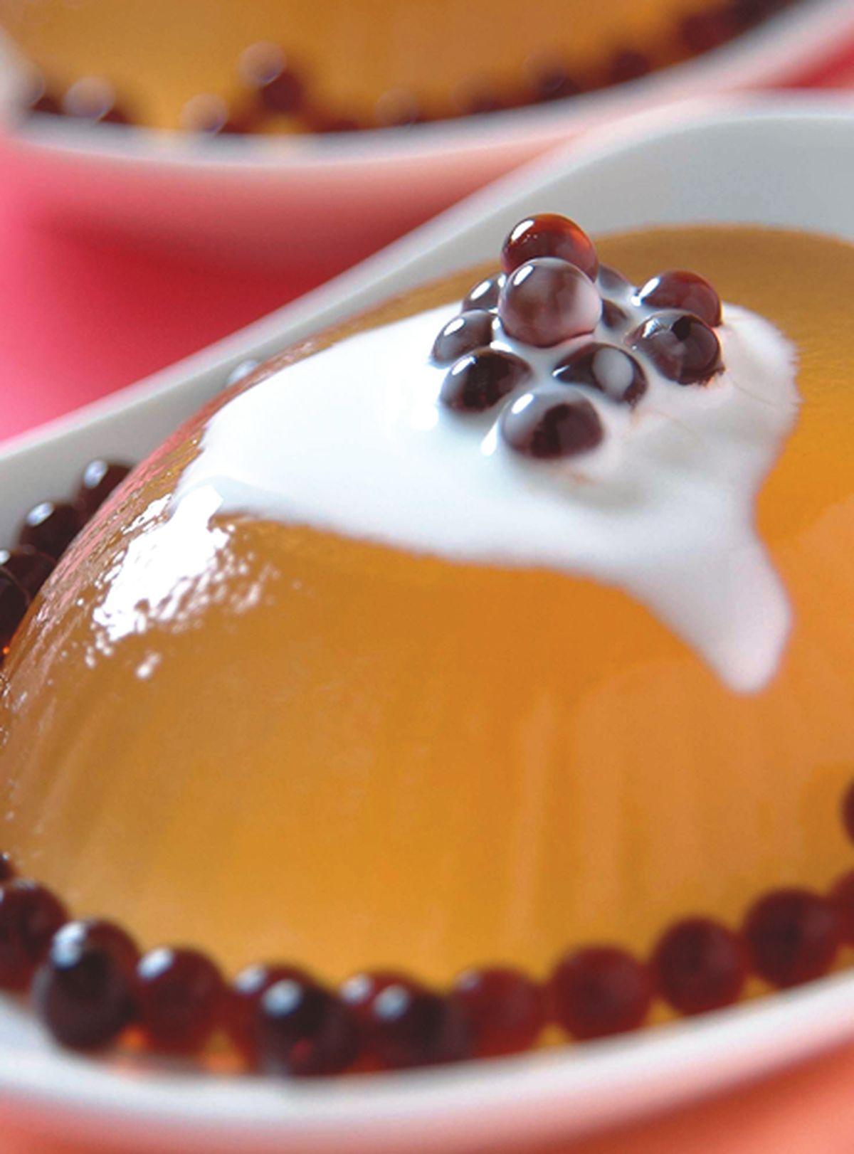 食譜:益母草布丁珠粉圓