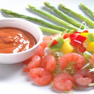 蝦仁蘆筍沙拉