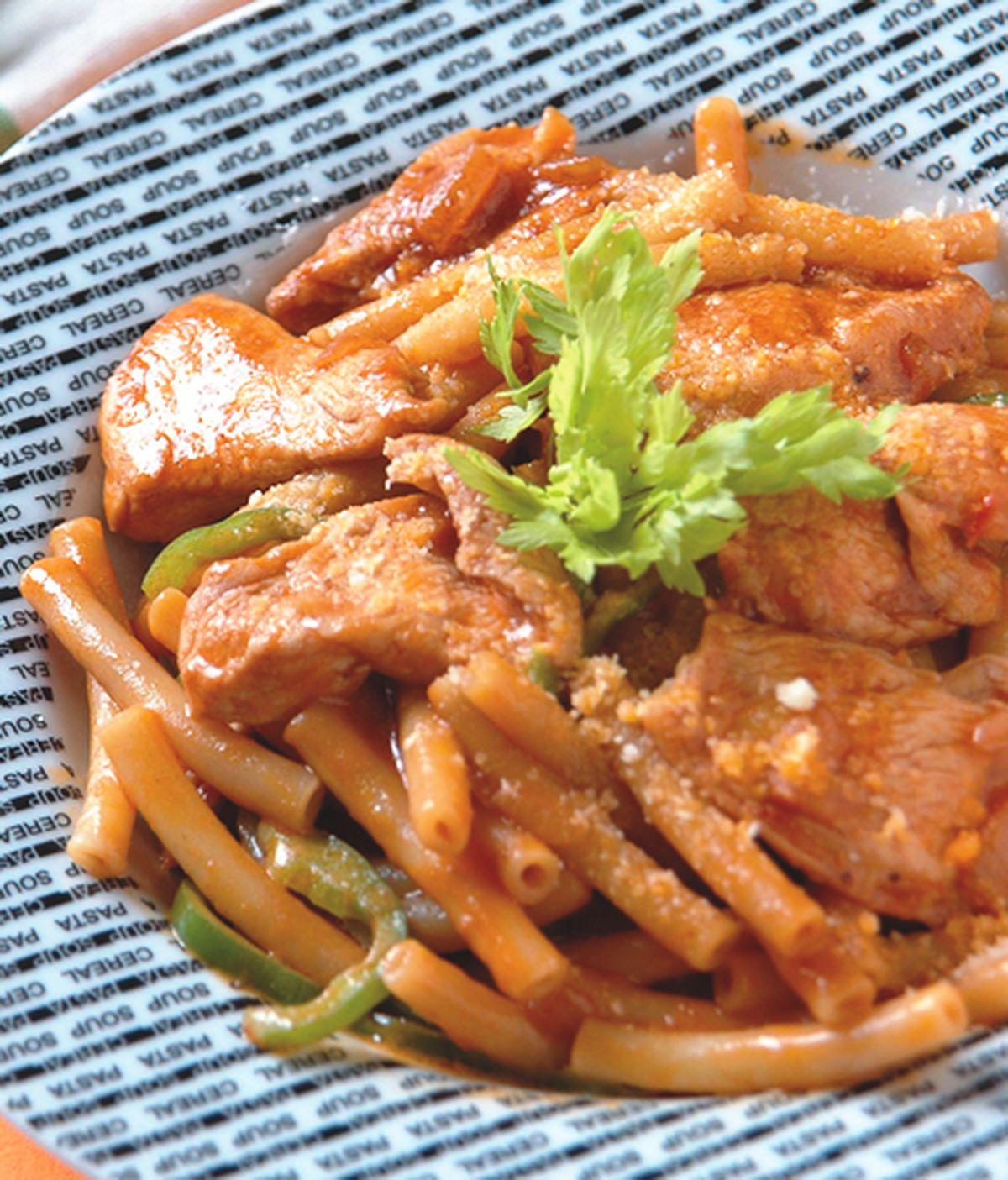 食譜:雞肉蕃茄通心麵