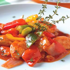 百里香茄汁甜椒雞肉