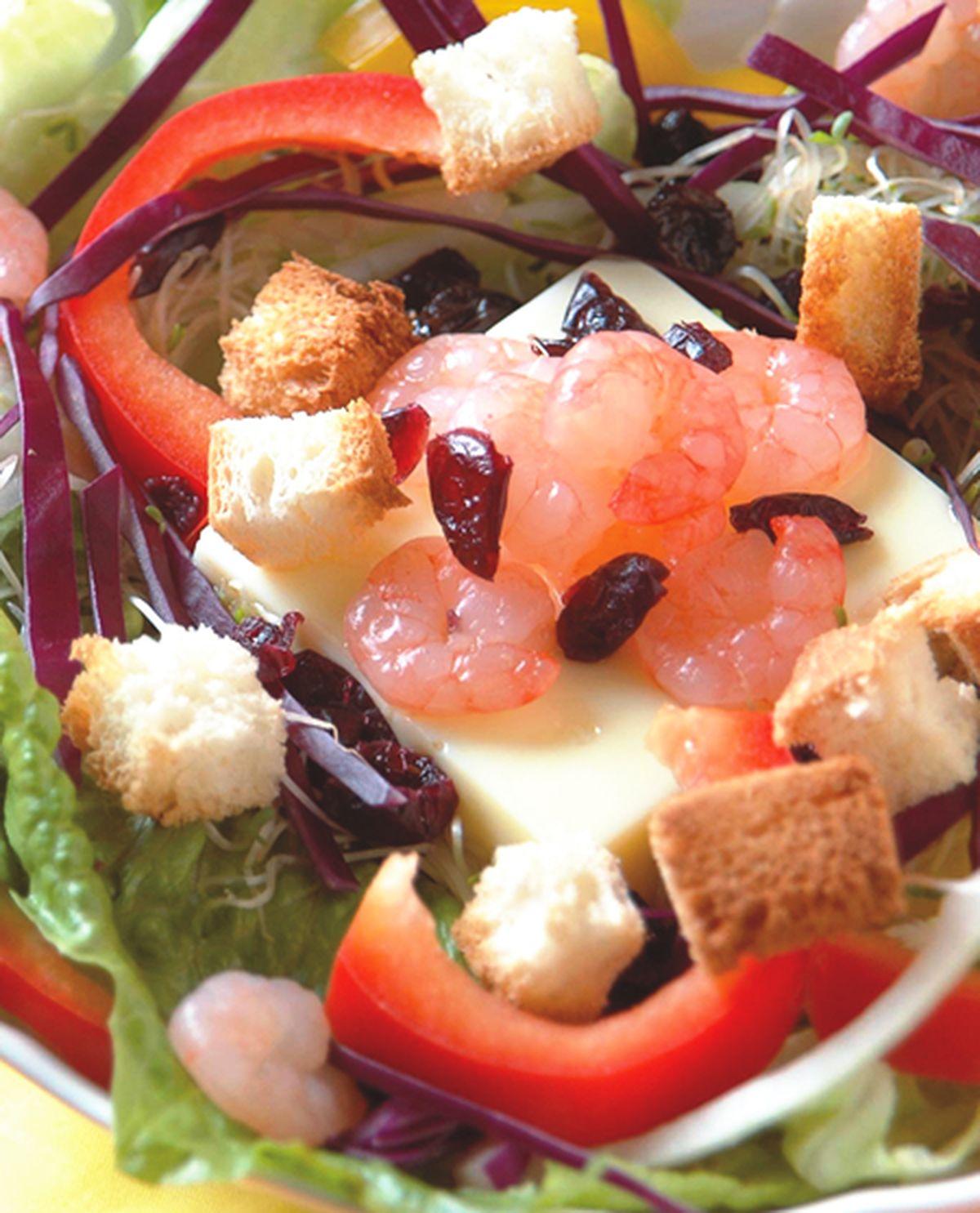 食譜:鮮蝦時蔬沙拉