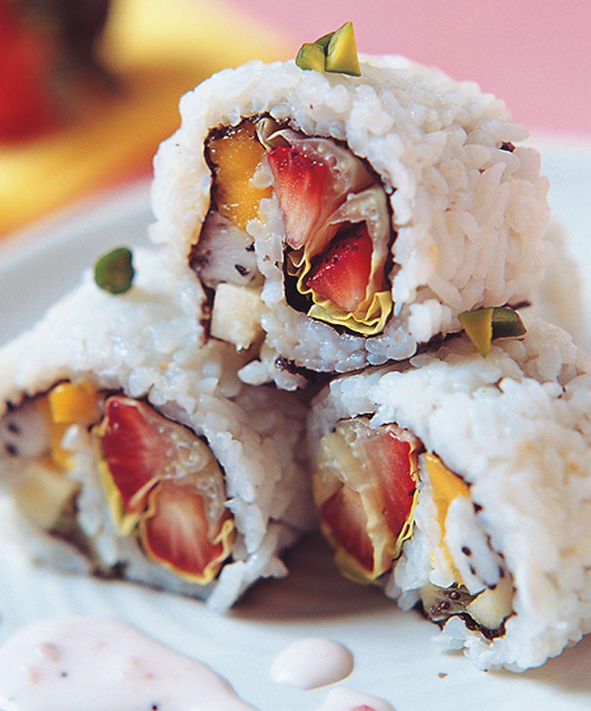 食譜:五彩鮮果壽司卷