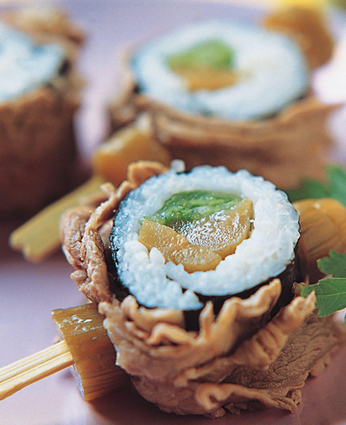 食譜:涮涮牛肉壽司卷