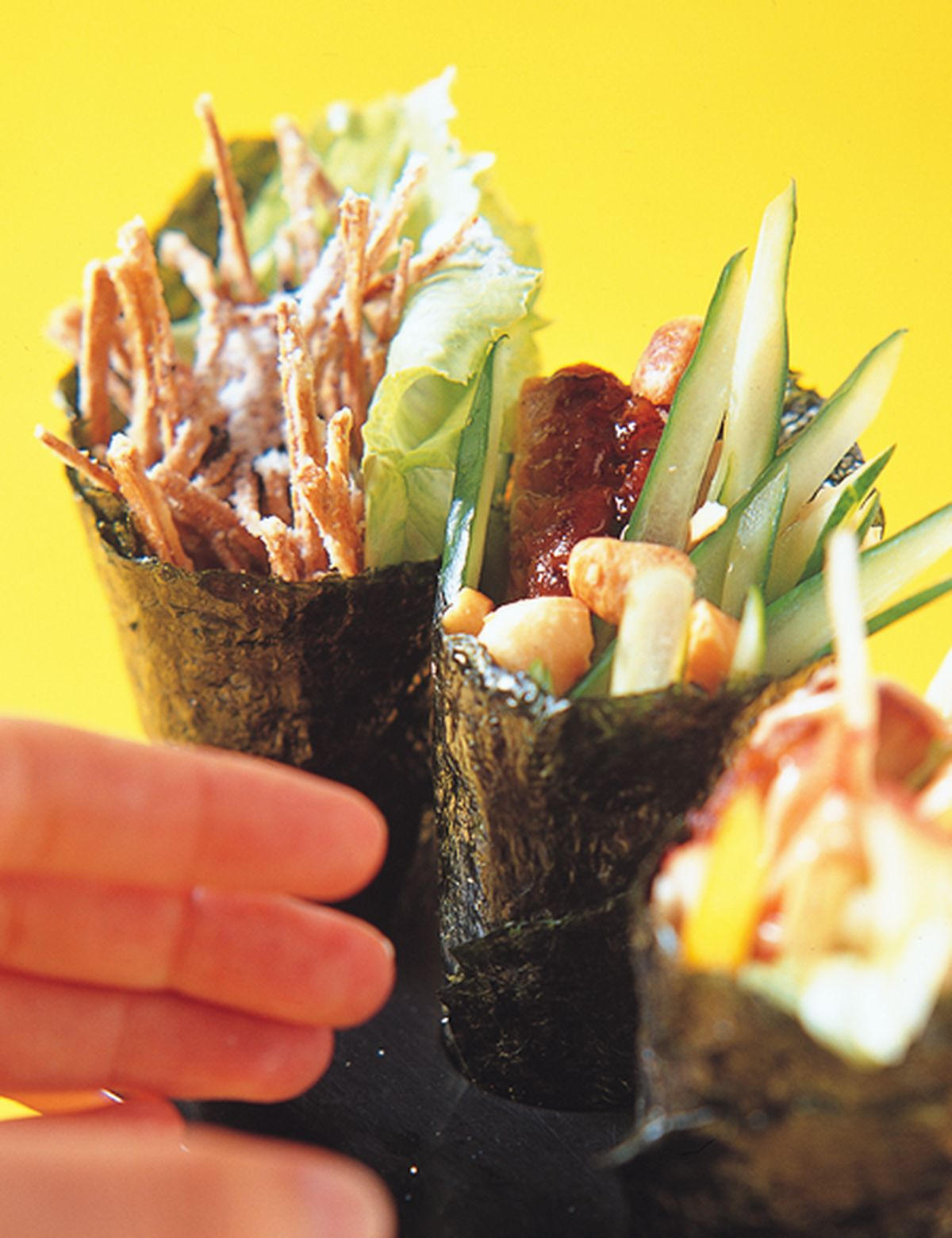 食譜:鮮蔬雞肉沙拉手卷