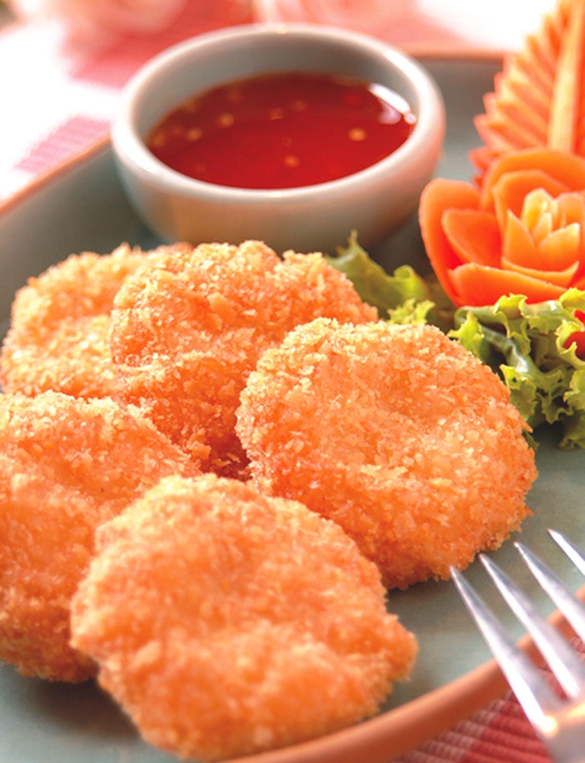 食譜:黃金蝦餅
