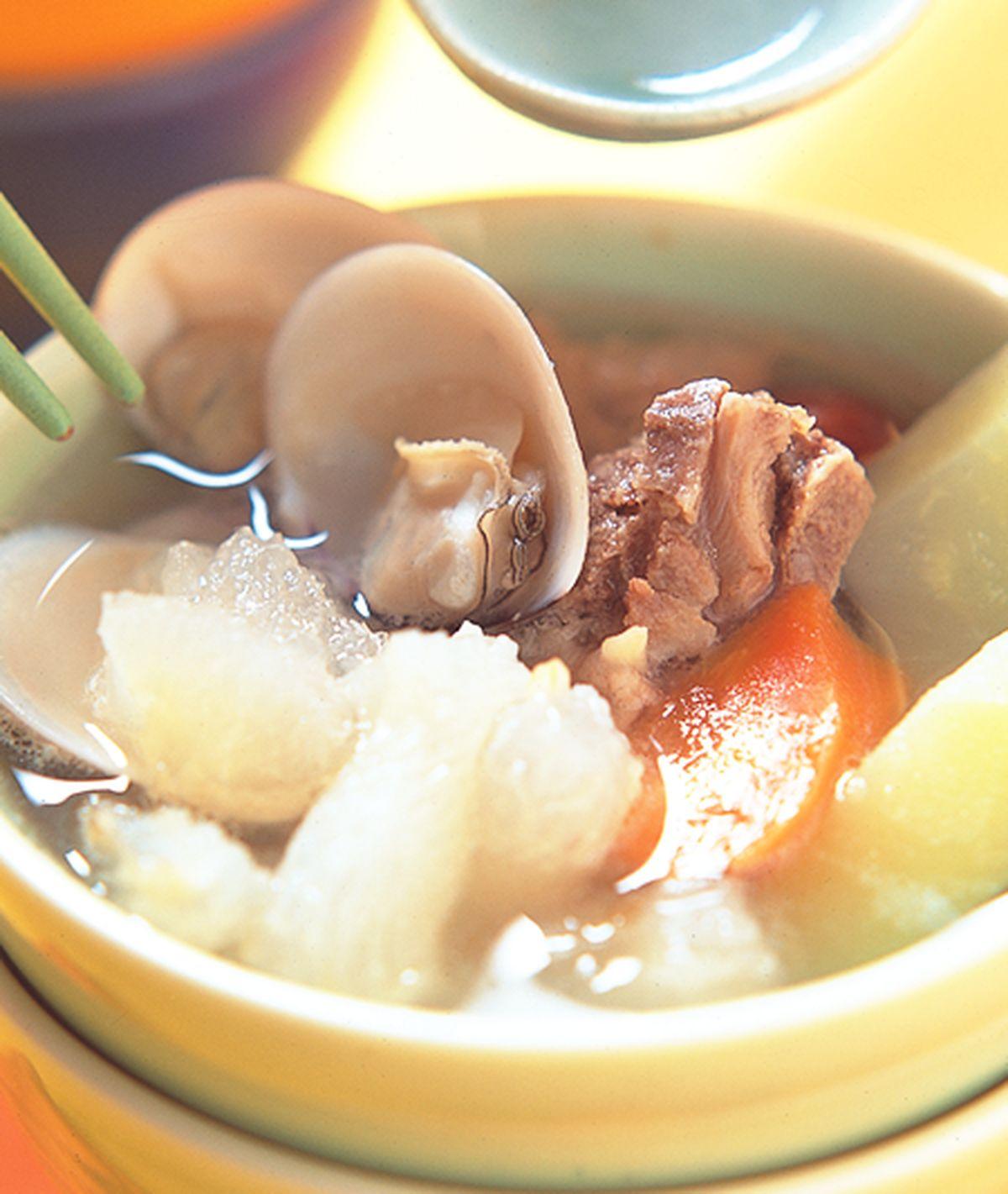 食譜:蹄筋瓜蚌湯