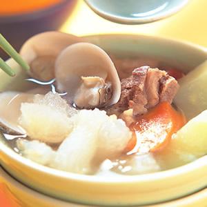 蹄筋瓜蚌湯