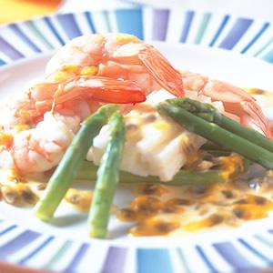 山藥蘆筍沙拉蝦