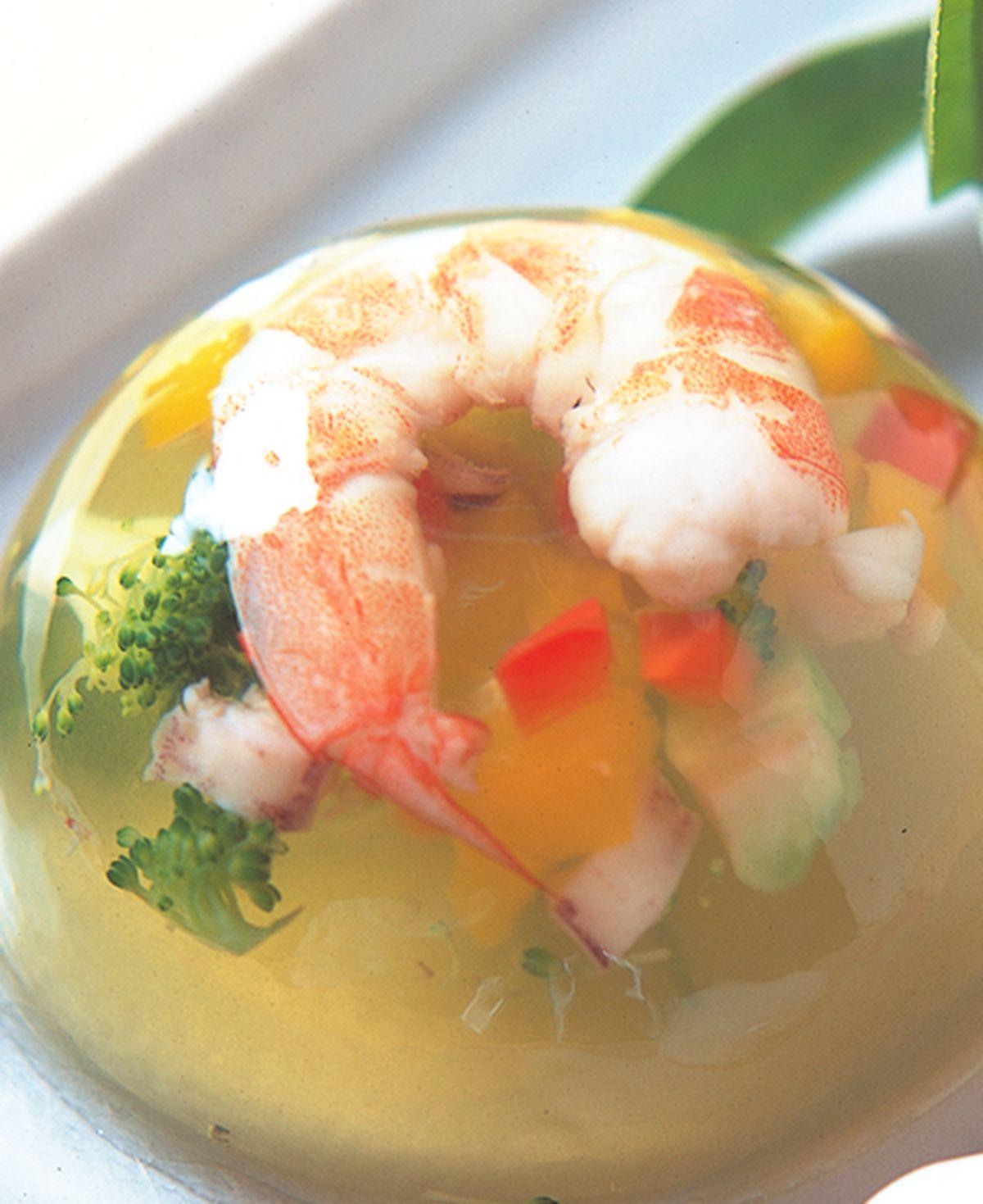 食譜:綠茶蝦凍