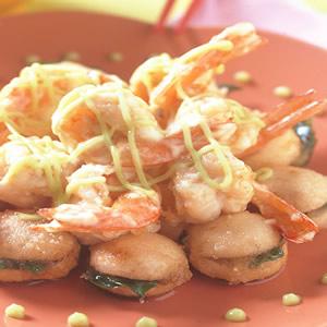 草菇沙拉蝦球
