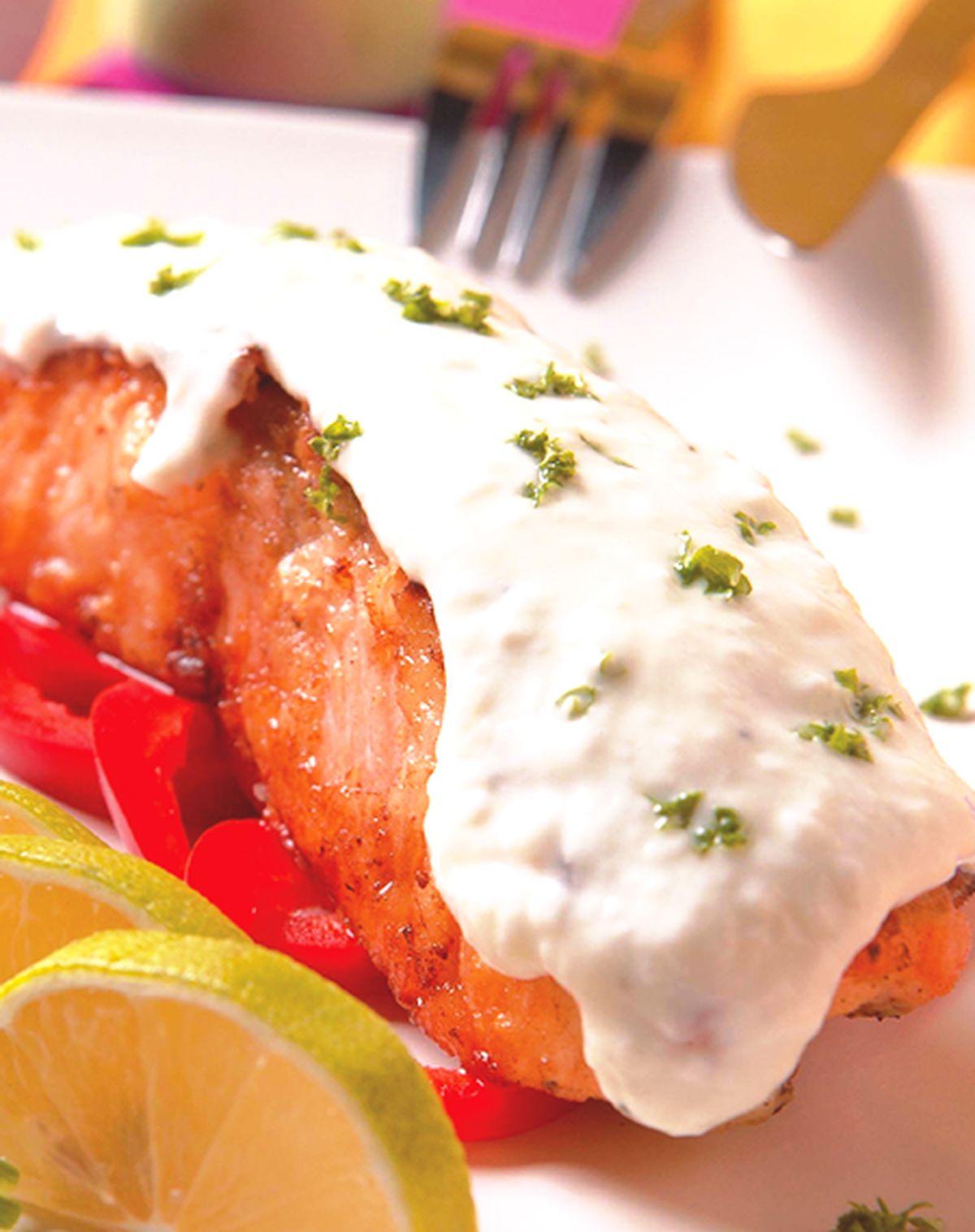 食譜:香烤優格鮭魚