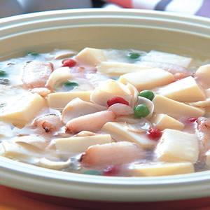 百合蟹肉豆腐羹