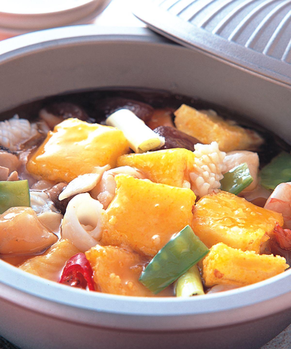 食譜:海皇豆腐煲