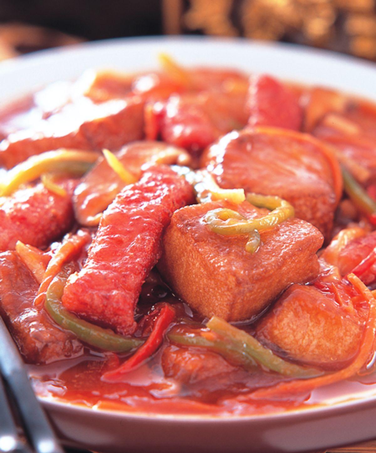 食譜:糖醋肉柳蛋豆腐