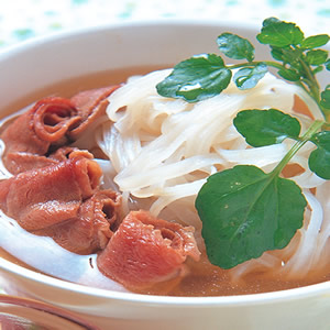 蘿蔔牛肉河粉湯