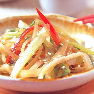 香炒蘿蔔皮葉