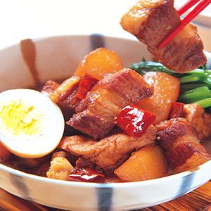 蘿蔔燉五花肉塊