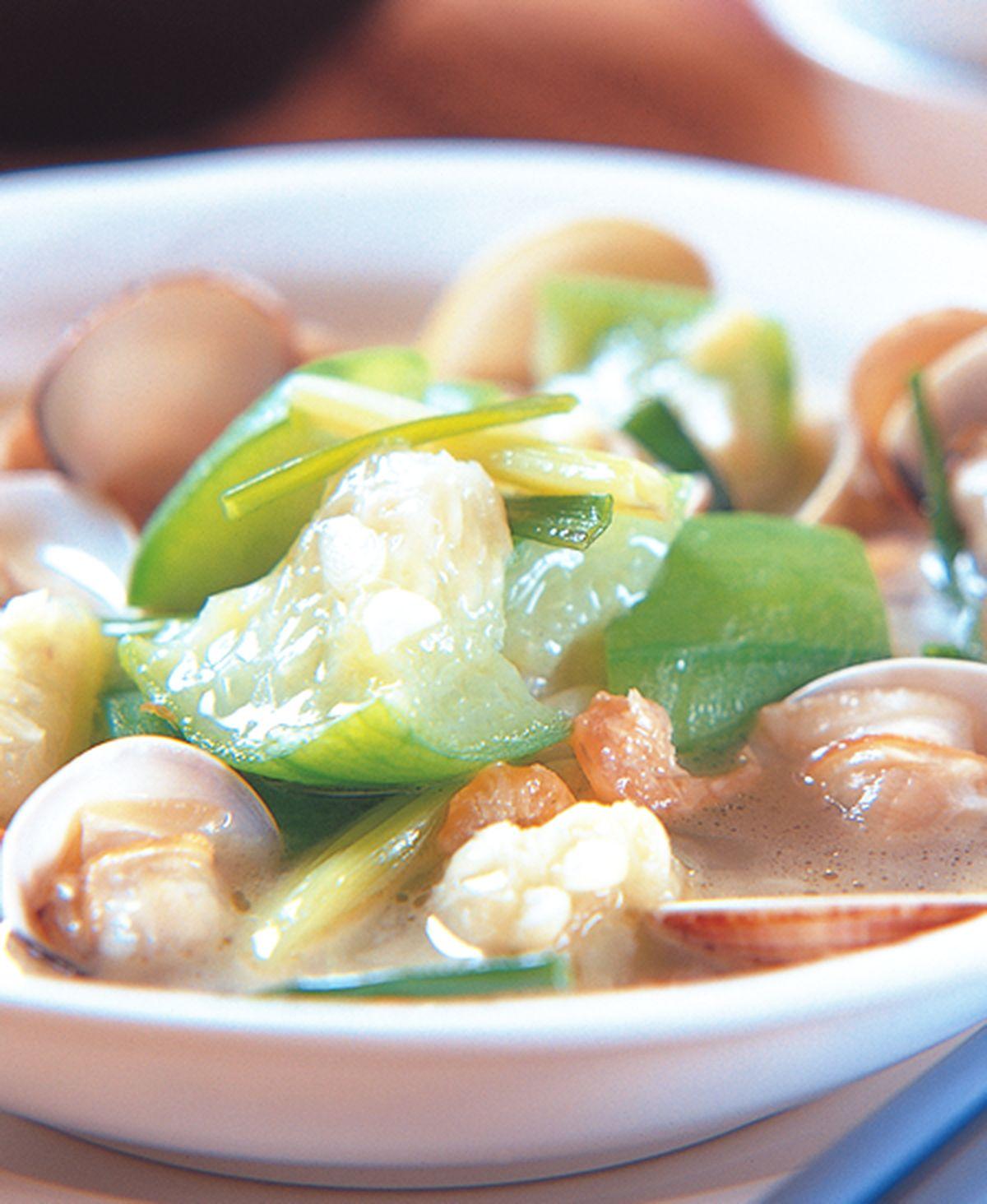 食譜:蛤蠣絲瓜