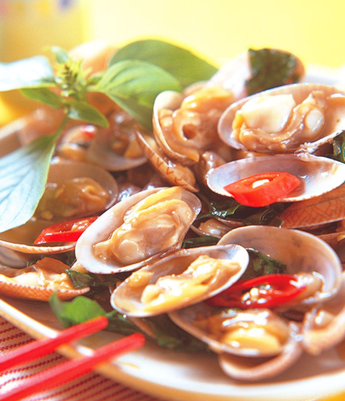 食譜:九層塔炒海瓜子