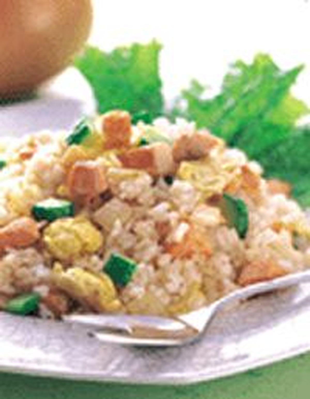 食譜:鮭魚炒飯