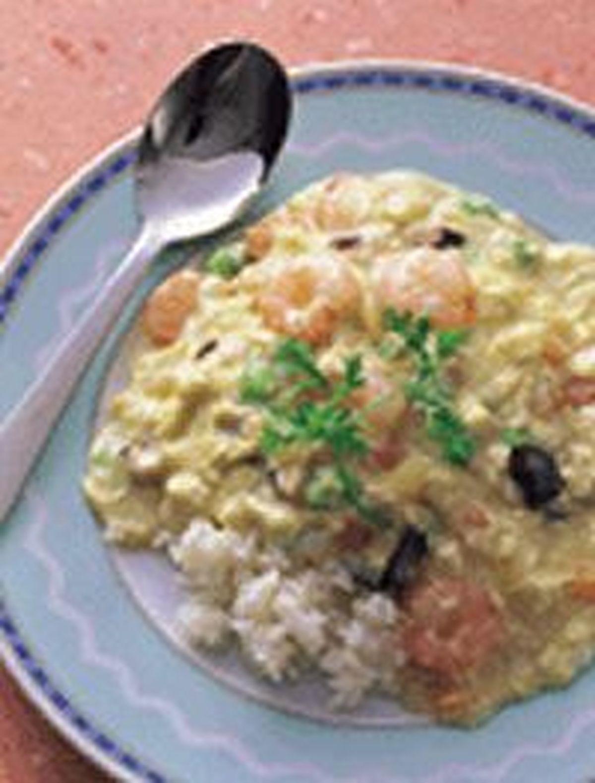 食譜:滑蛋蝦仁燴飯