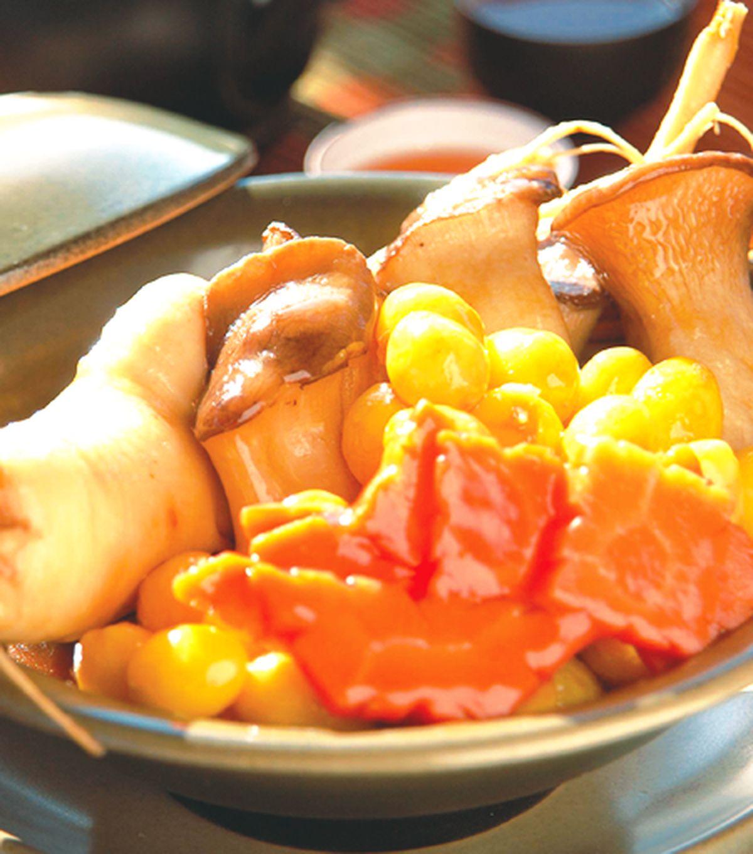 食譜:參味白果杏菇煲