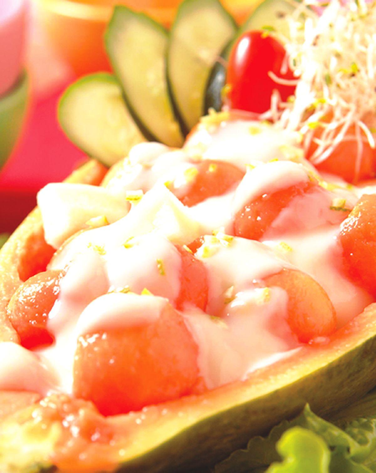 食譜:香甜木瓜沙拉船