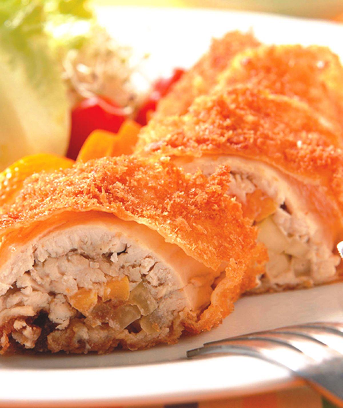 食譜:炸木瓜雞肉捲