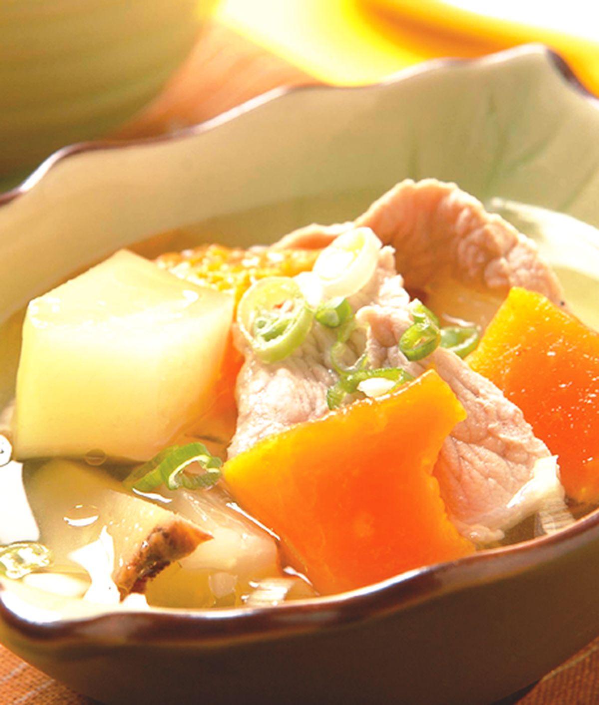 食譜:青紅木瓜肉片湯