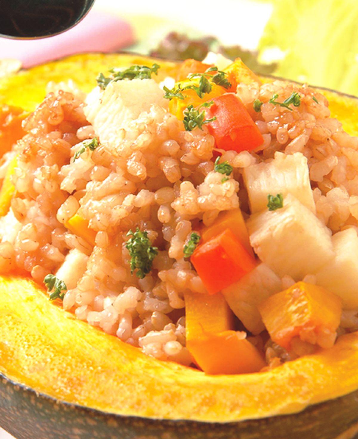 食譜:南瓜山藥蒸飯
