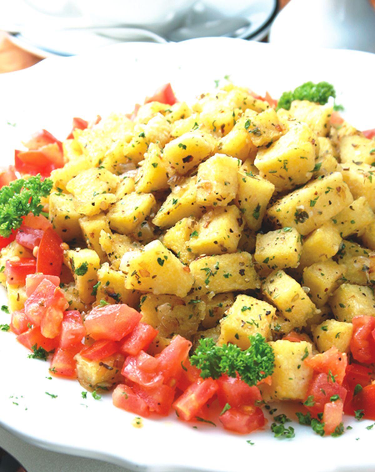 食譜:香炒火腿義式玉米餅