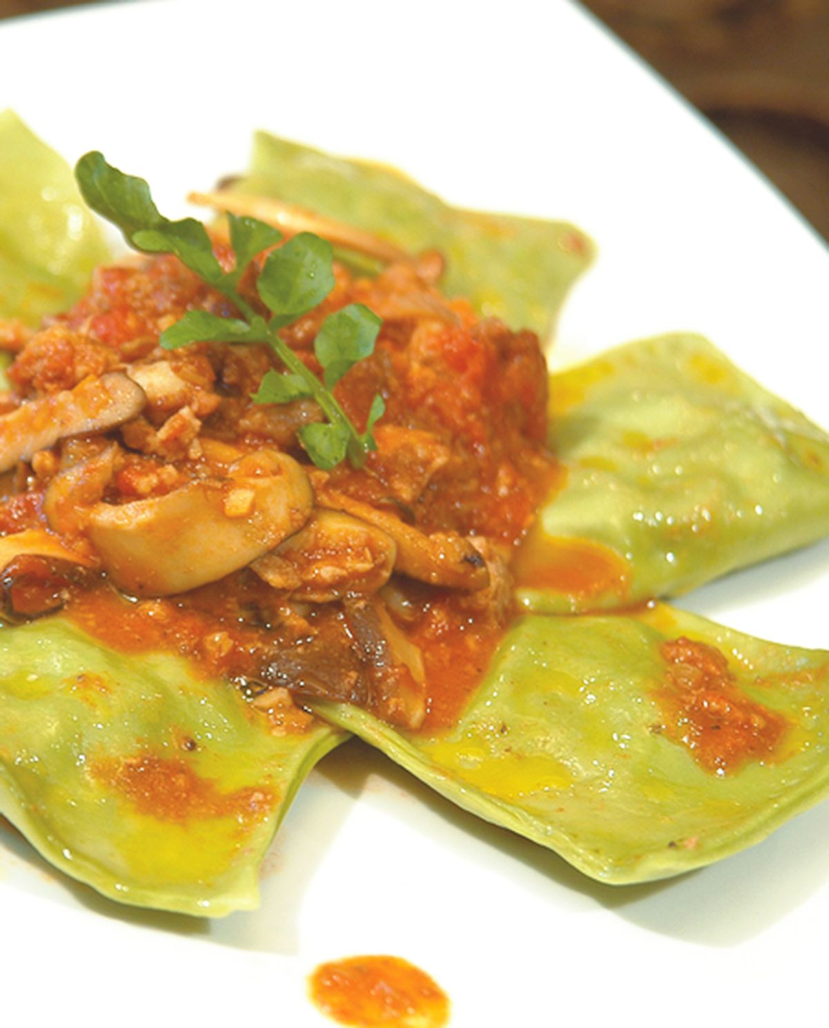 食譜:野菇義大利肉醬菠菜餃