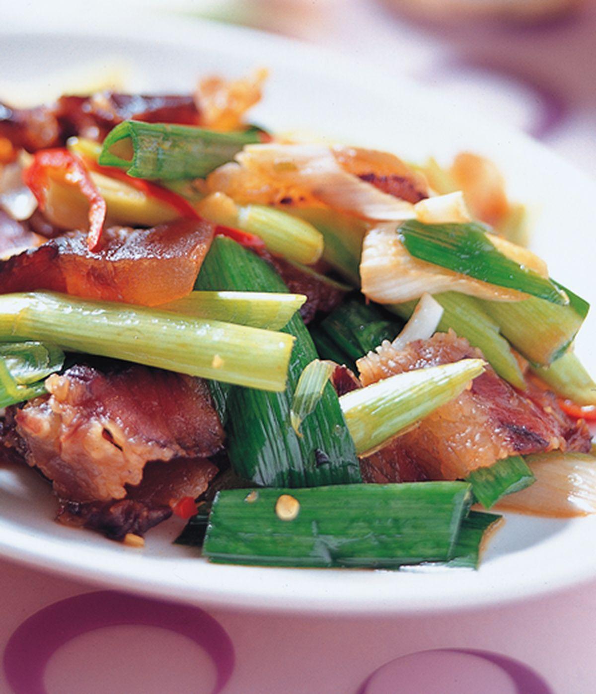 食譜:蒜苗炒臘肉