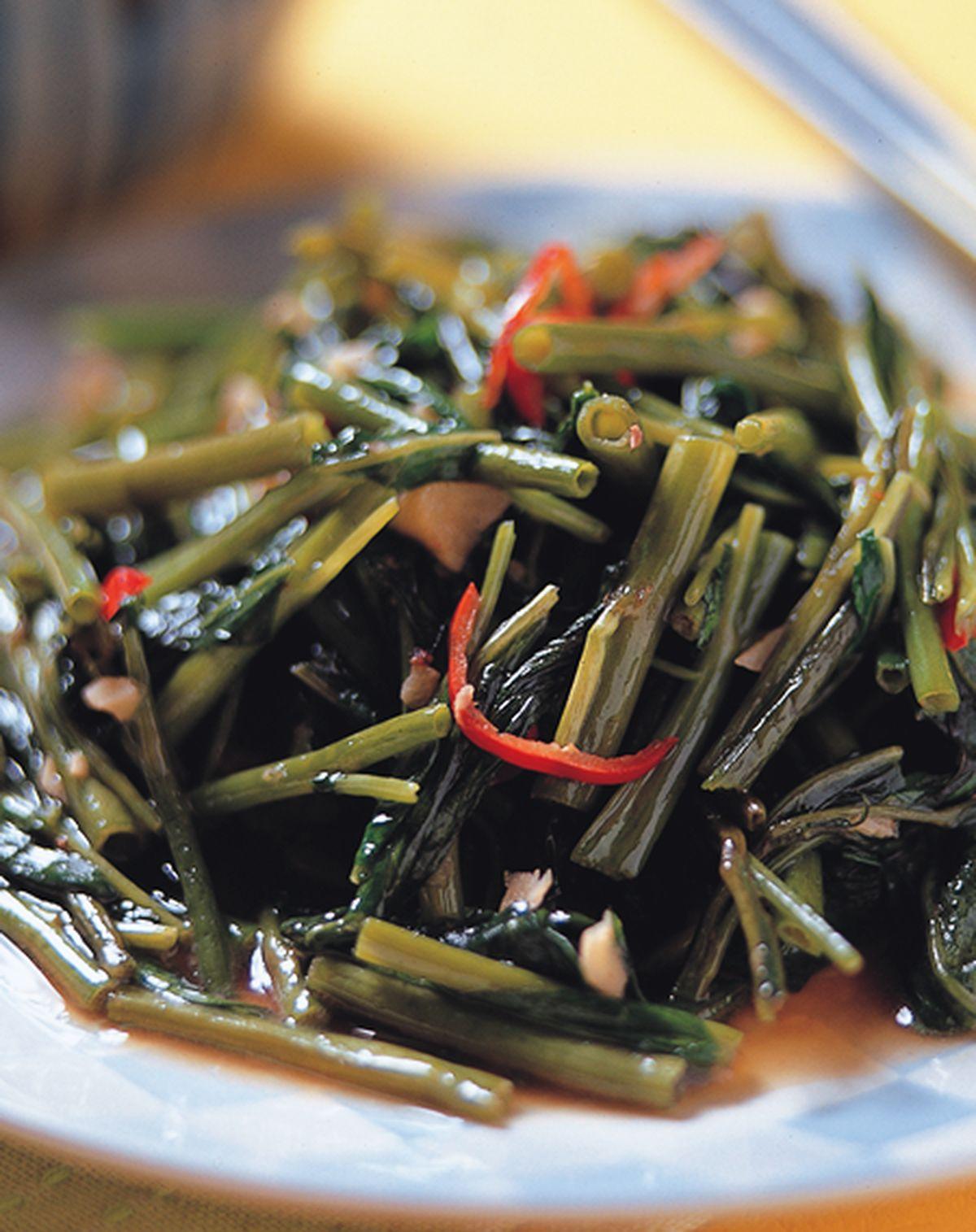 食譜:蝦醬空心菜