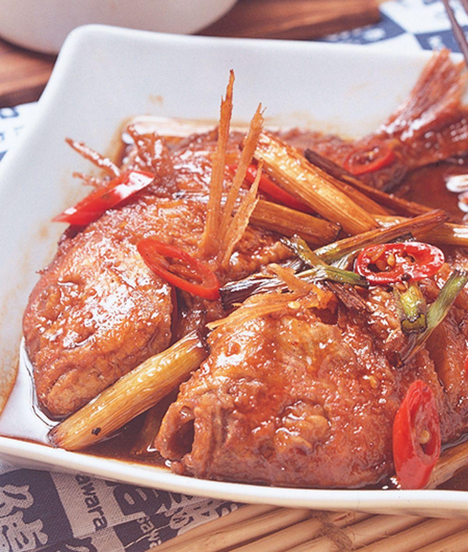 食譜:蔥燒魚