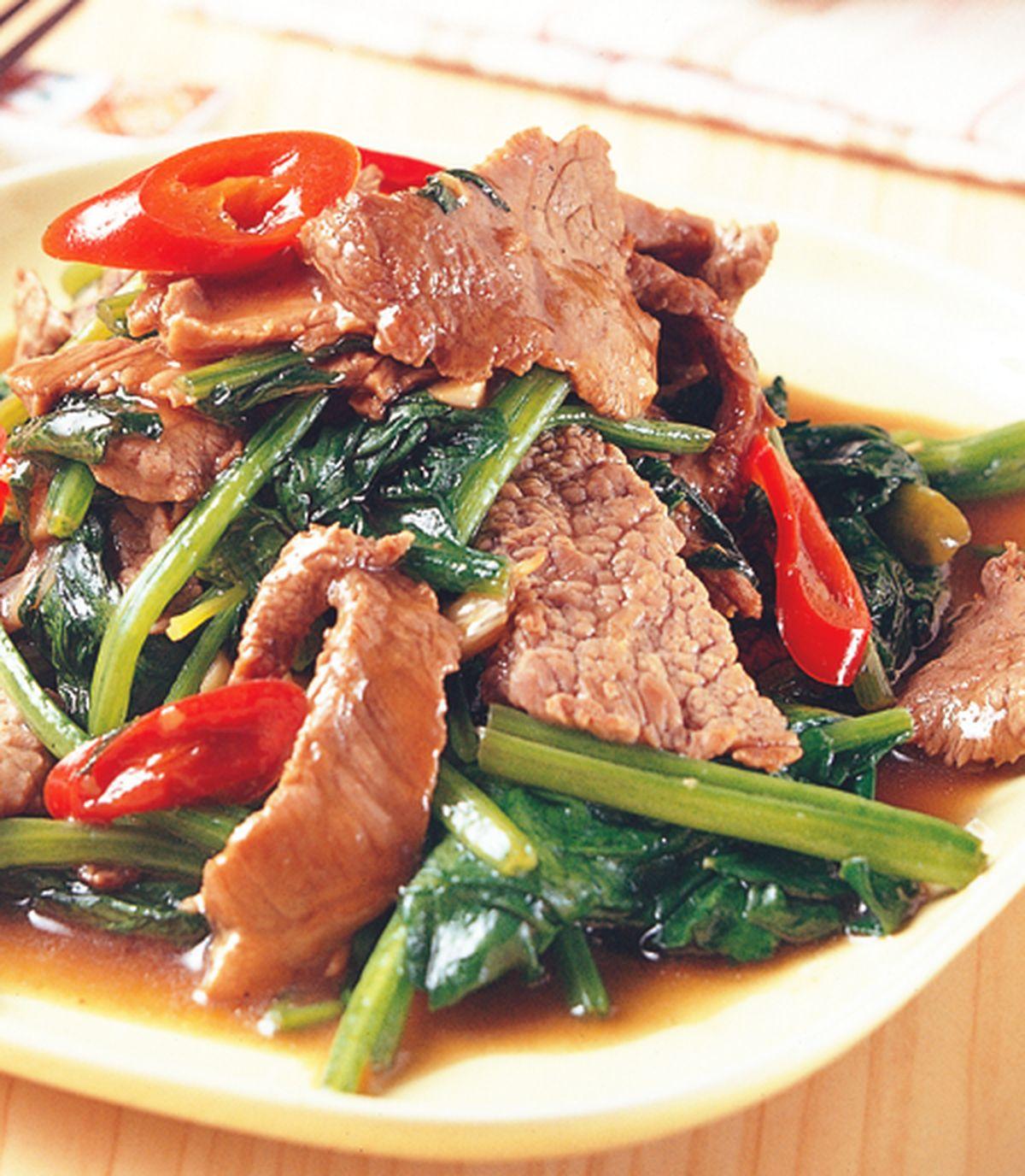 食譜:蠔油菠菜牛肉
