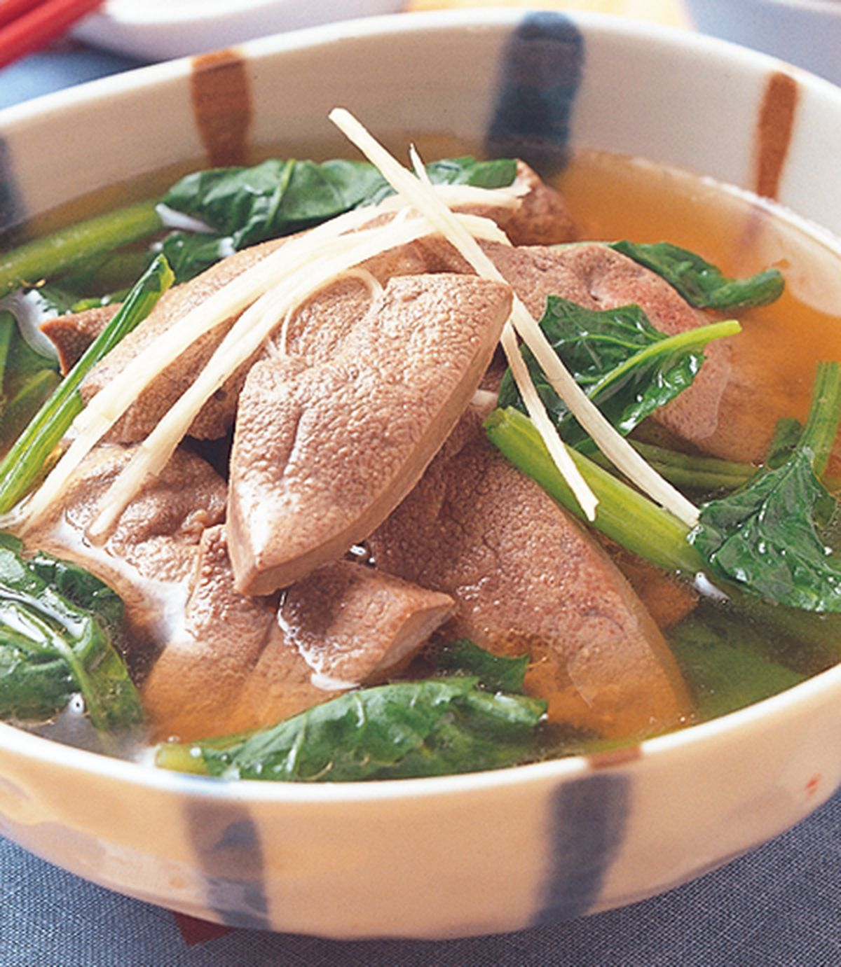 食譜:豬肝菠菜湯
