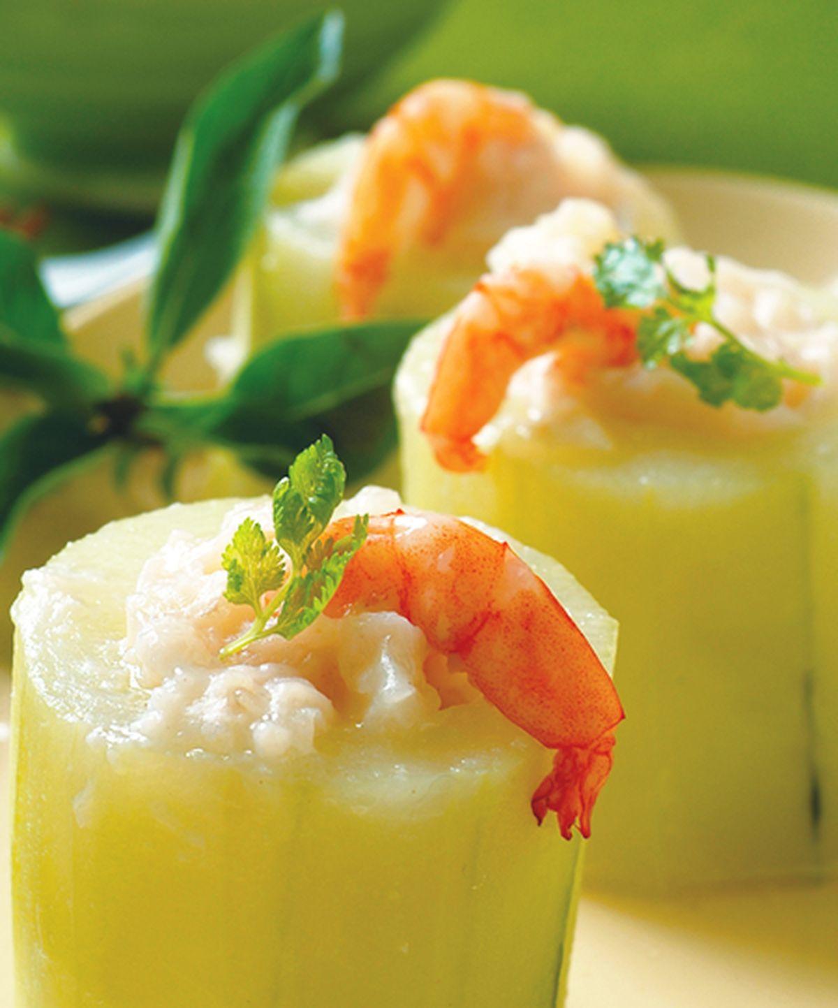 食譜:鮮蝦黃瓜盅