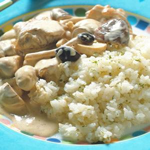 蕈菇奶油燴飯